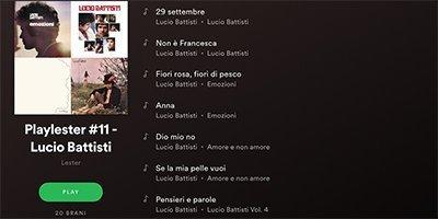 Perché una playlist dedicata a Lucio Battisti?